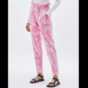 Bassike Motley Double Jersey Paperbag Pants